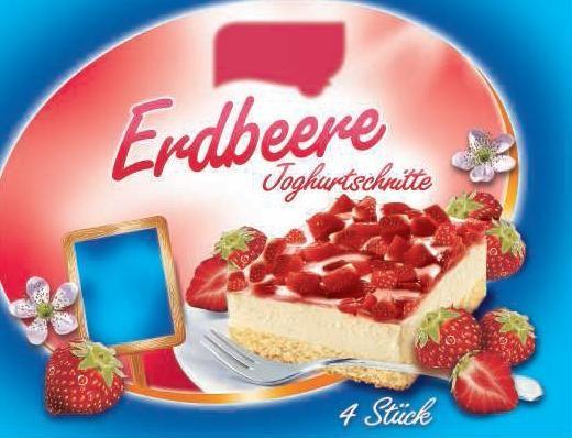 Erdbeere Joghurtschnitte